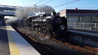 C61形蒸気機関車20号機「快速 SLぐんまよこかわ号」北高崎駅通過 '19.09.15