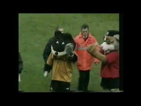 Wolverhampton V Bristol Mascots Fight