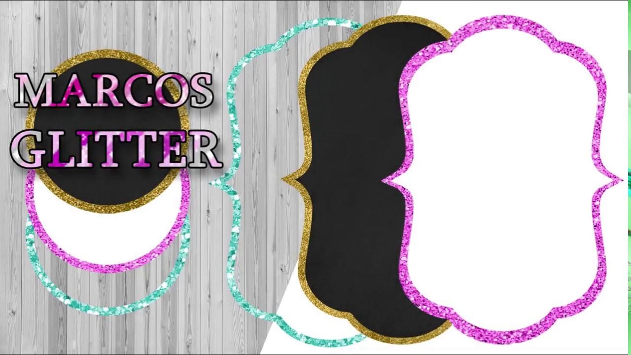 Marcos Glitter Para Invitaciones - Photoshop - YouTube