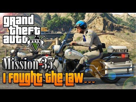 "GTA V - Mission #35 - ""I Fought The Law"" [100% Invincible Guide]"