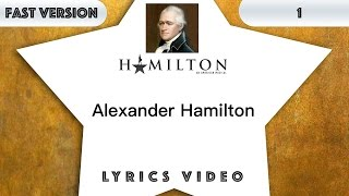 1 episode: Hamilton - Alexander Hamilton [MUSIC LYRICS] - 3x faster