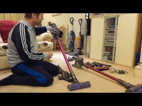Dyson V6 and Dyson V8 Handstick cordless vacuums - Differences and similarities.