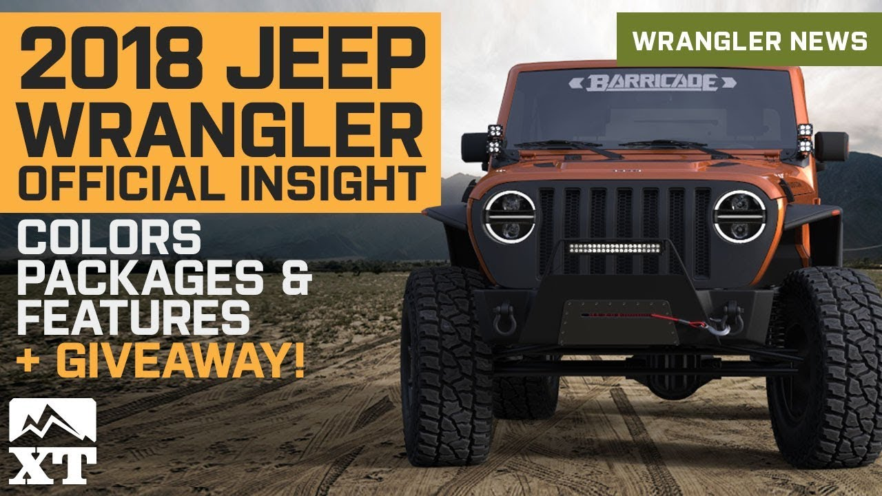 2018 Jeep Wrangler Color Chart Mountainstyle Co