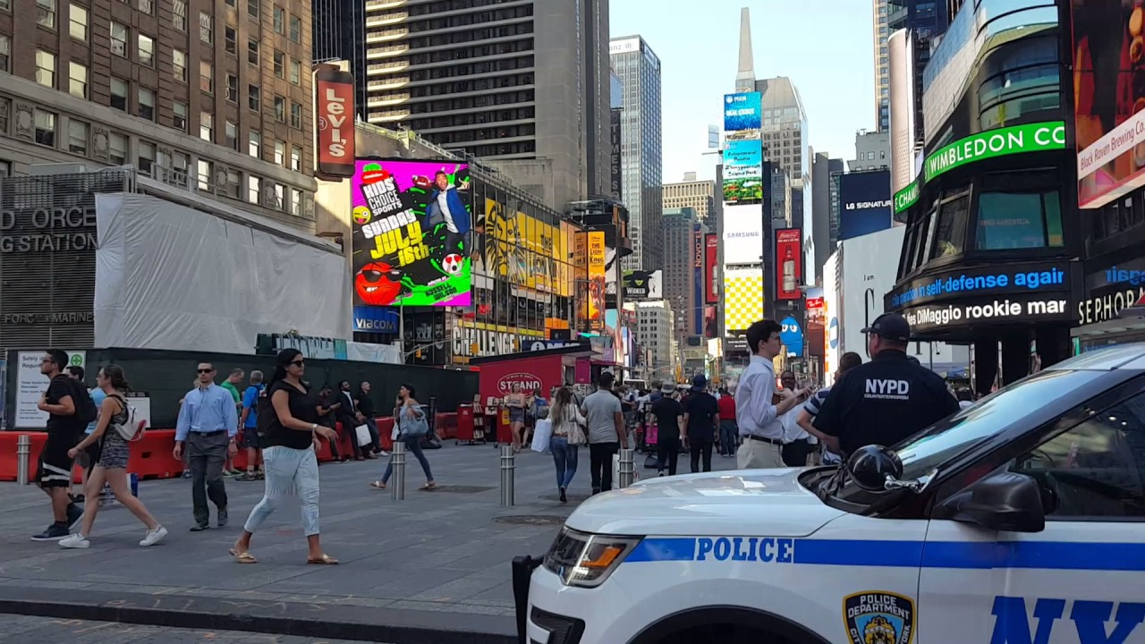 Walking around times square n y july 5th 2017 youtube for What to do around times square