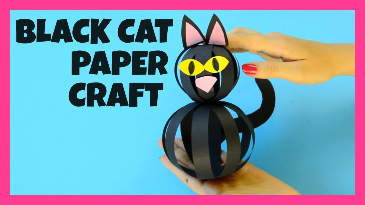 Black Cat Paper Strips Halloween Craft Ideas For Kids