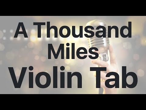 Learn A Thousand Miles on Violin - How to Play Tutorial