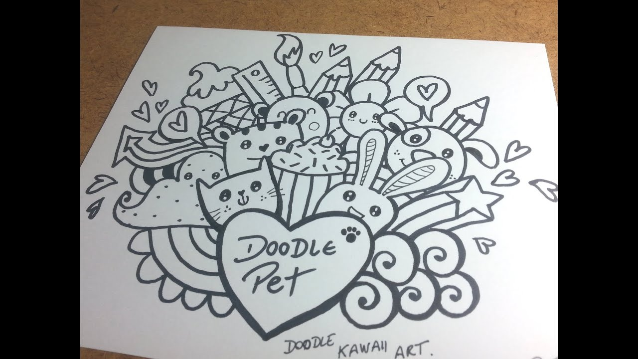Doodle pet basic youtube for How to draw doodle art for beginners