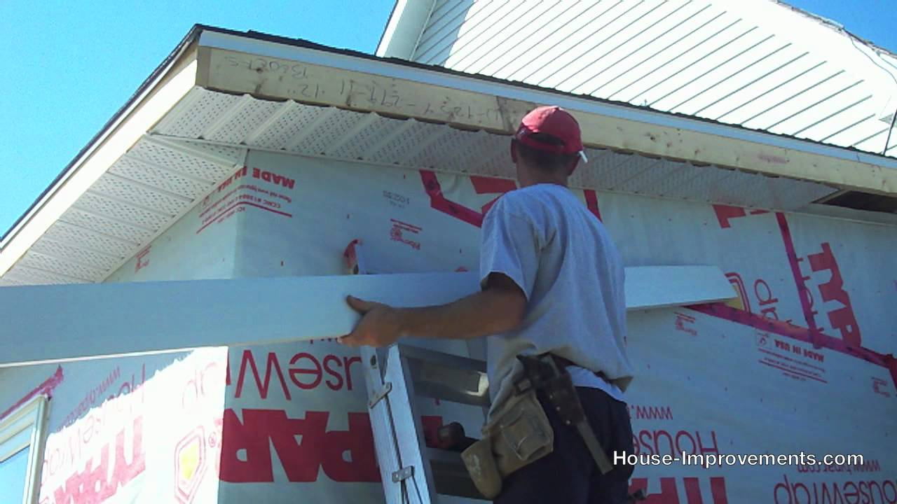 how to install soffit and fascia youtube