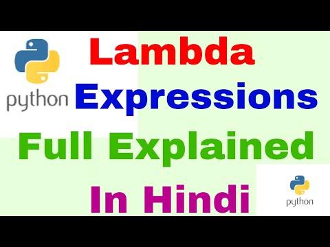 Python Lambda Expressions & Anonymous Functions [Python Tutorial] Learn Python Programming In Hindi thumbnail