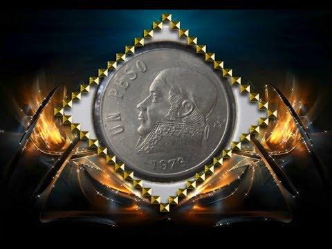 Coin Mexico 1 peso 1976 world coin collecting  numismatic монета 1 мексиканский песо Мексика