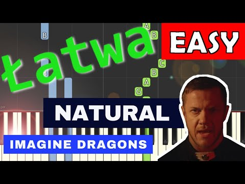 🎹 Natural (Imagine Dragons) - Piano Tutorial (łatwa wersja) (EASY) 🎹