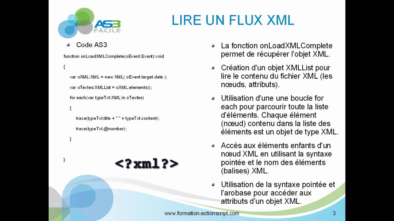 comment charger et lire un fichier xml en as3