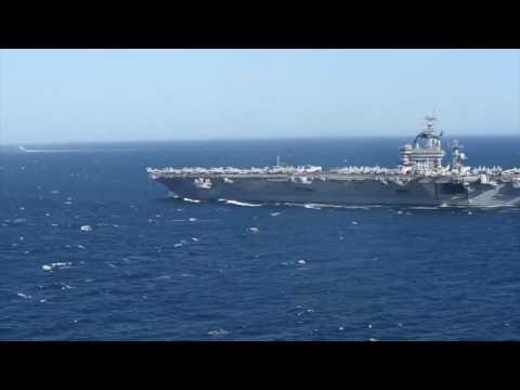 Aerial Shots of USS Dwight D. Eisenhower (CVN-69) in the Med