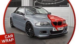 BMW M3 e46 wrapped Dragon Fire Red