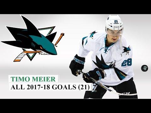 Timo Meier (#28) All 21 Goals of the 2017-18 NHL Season