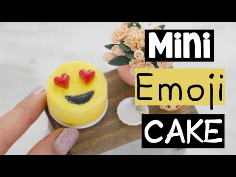 DIY MINI EMOJI CAKE - World's Smallest Cake!