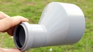 ОТЛИЧНАЯ ИДЕЯ ИЗ ОБЫЧНОГО ПВХ ПЕРЕХОДНИКА 110х50. GREAT IDEA OF CONVENIENT PVC ADAPTER 110x50.