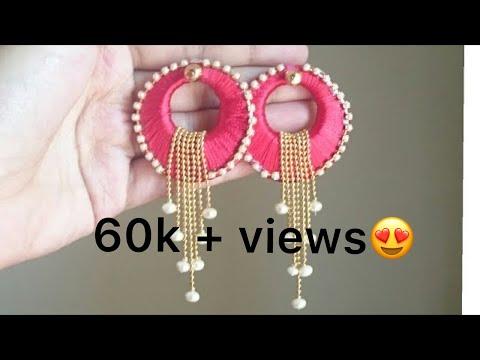 silk thread earrings/chandbali