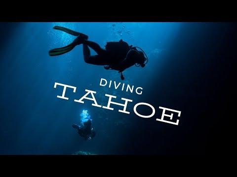 Scuba Diving Lake Tahoe, Carnelian Bay. Altitude diving at 6229 feet. Big Blue