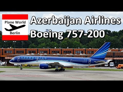 Azerbaijan Airlines Boeing 757-200 takeoff from Berlin Tegel Airport