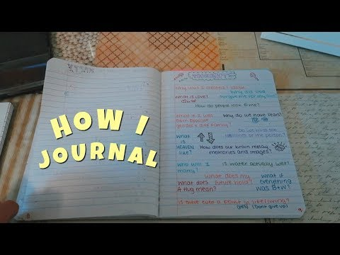 WHAT'S IN MY JOURNAL.. HOW I JOURNAL | Emma Marie