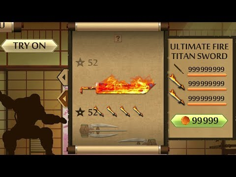 Shadow Fight 2 The Most Powerful FIRE TITAN SWORD