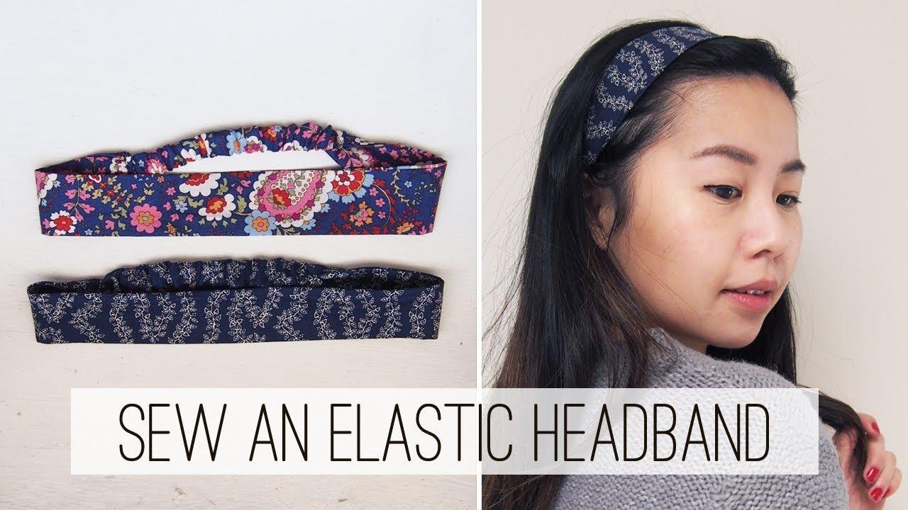 Sew an Elastic Headband DIY  d22b3afe9c4