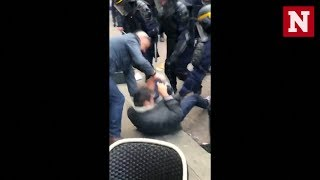 Macron's Aide Caught On Camera Beating Up Protesters