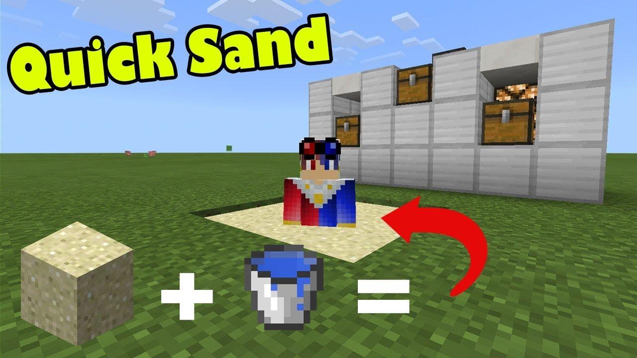 How to Make QUICKSAND in Minecraft PE (Quicksand Addon)