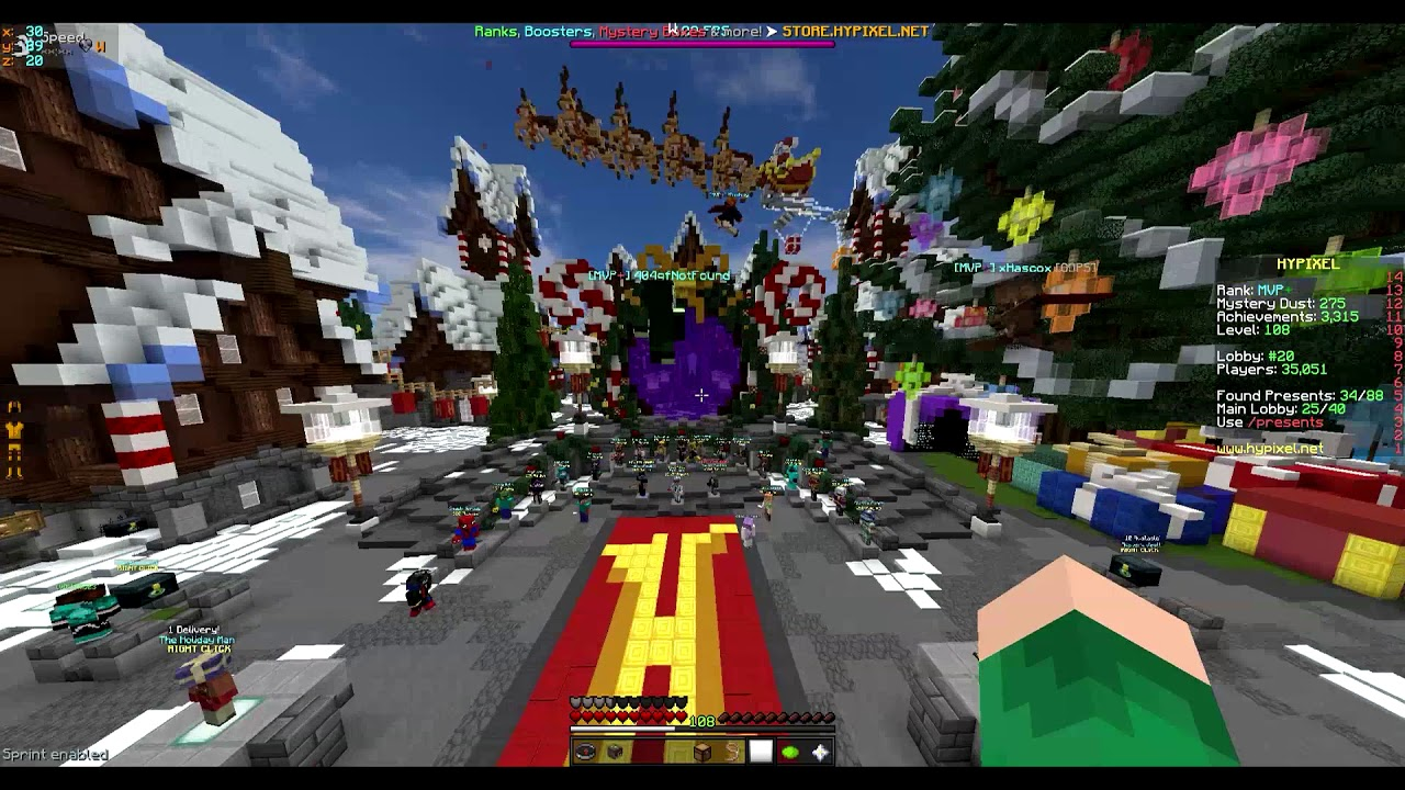 VIDEO GUIDE] All 40 presents in the main lobby! | Hypixel