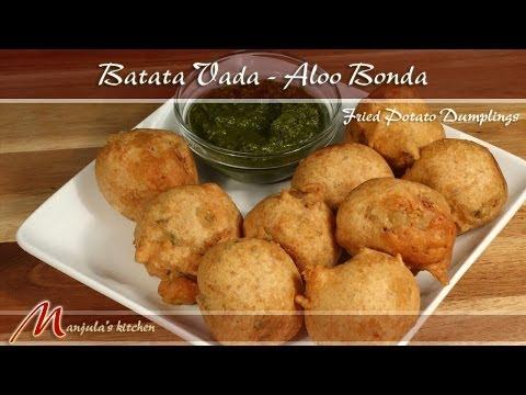 Batata Vada - Bhonda (Fried Potato Dumplings) Recipe by Manjula