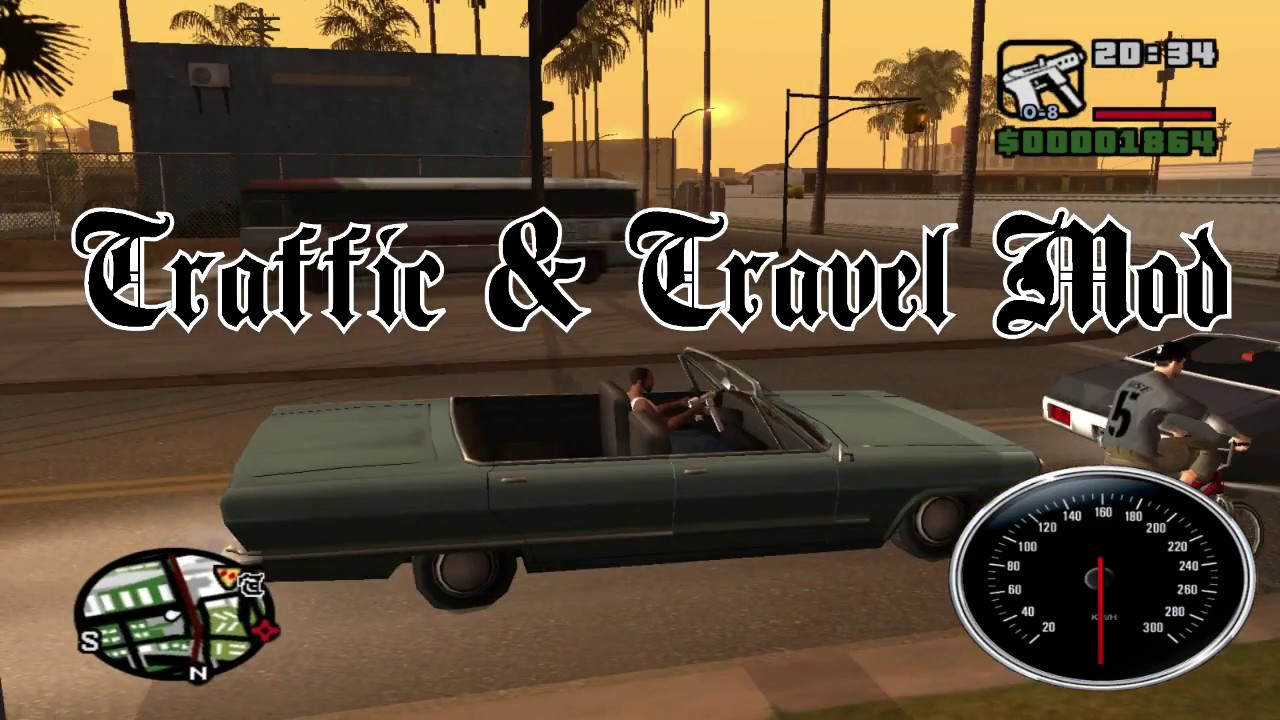 Traffic & Travel - GTA San Andreas CLEO MOD by CleoMods