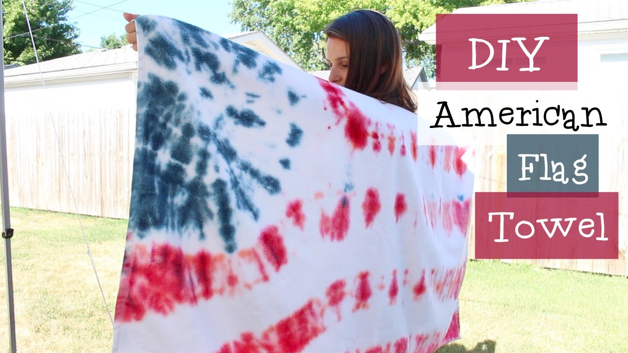 65aa4c2e18a1 Diy American Flag Tie Dye Towel Youtube