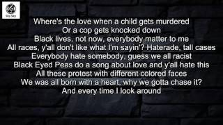 Repeat youtube video Black Eyed Peas - #WHERESTHELOVE Ft. The World (Lyrics Video)