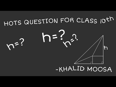 Math magic by youngest mathematician.. Heights and distance HOTS question 10th level