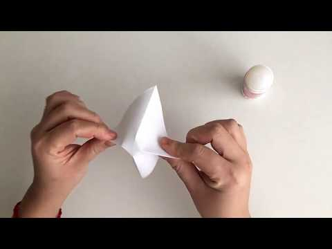[Paper ice cream cone Origami] how to make folding origami easy small paper ice cream DIY for kids