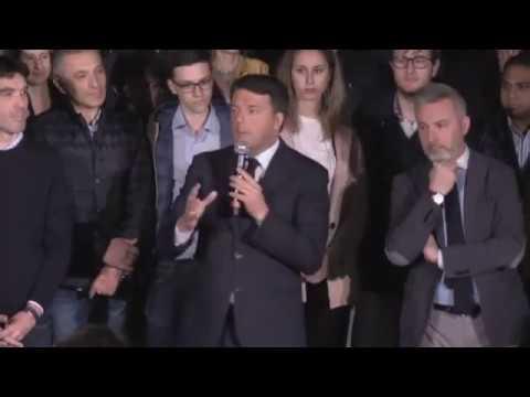 Matteo Renzi in diretta dal Nazareno. 30 aprile 2017