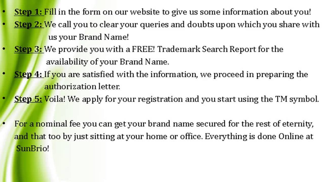 Trademark registration in india sunbrio youtube trademark registration in india sunbrio buycottarizona Gallery