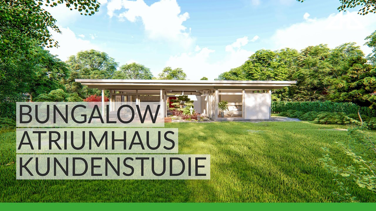 Huf Bungalow Atrium House Design Concept Youtube
