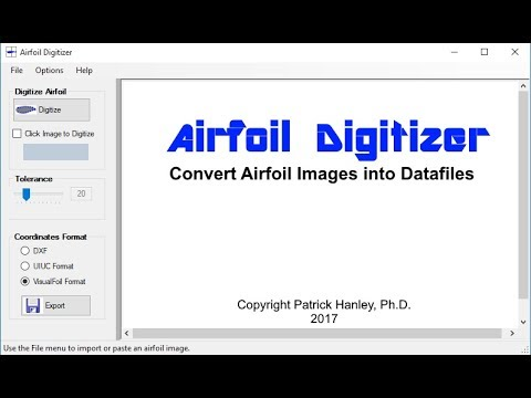Airfoil Digitizer by Patrick Hanley, Ph D  - YouTube
