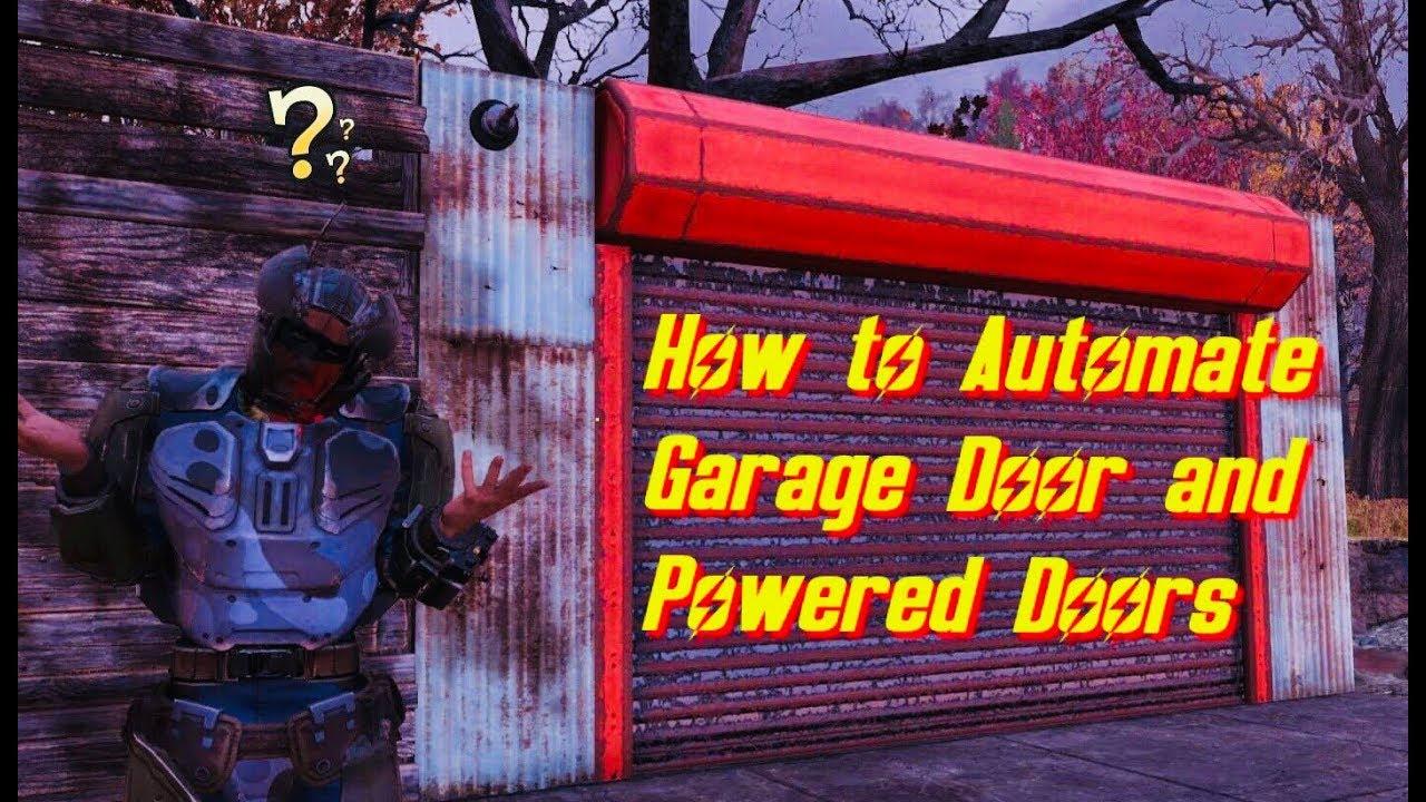 Fallout 76 Garage Door And Powered Door Tutorial Youtube