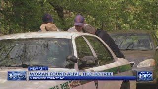 Missing NC woman found tied to tree near Blue Ridge Parkway, radio calls indicate