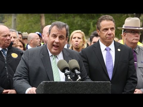 Governors Chris Christie and Andrew Cuomo respond to train crash