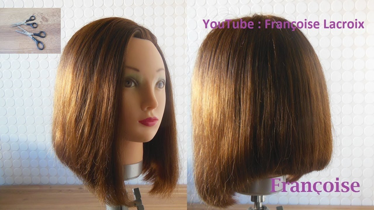 1-TUTO Coupe cheveux carré plongeant | Bob Haircut tutorial | Corte de pelo Bob - YouTube