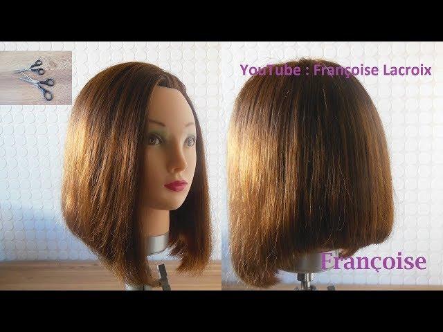 1 Tuto Coupe Cheveux Carre Plongeant Bob Haircut Tutorial Corte De Pelo Bob Youtube
