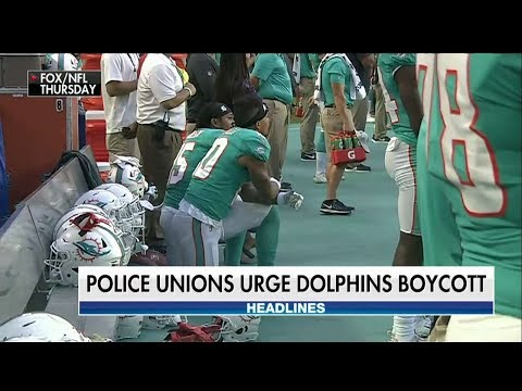 FL Police Unions Urge Miami Dolphins Boycott After Anthem Protests