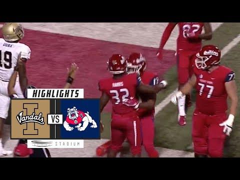 Idaho vs Fresno State Football Highlights (2018) | Stadium