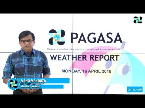 Public Weather Forecast Issued at 4:00 PM April 15, 2018