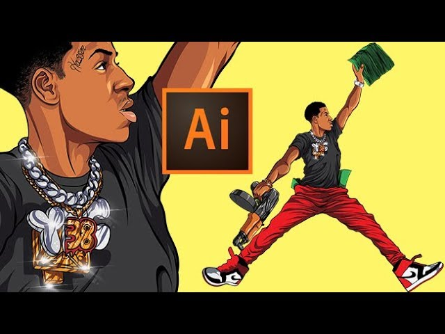 Drawing NBA YoungBoy From Scratch ( ADOBE ILLUSTRATOR