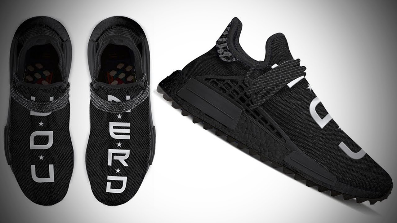 size 40 ad75a c9d92 *MUST SEE* THE FIRST TRIPLE BLACK ADIDAS NMD HUMAN RACE BY PHARRELL  WILLIAMS!!! ( Y.O.U. N.E.R.D. )